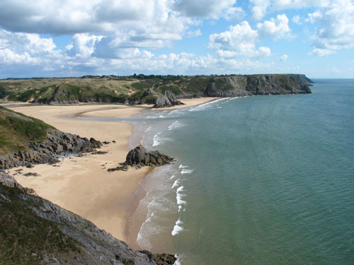 The Gower coast, Wales