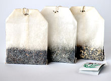 Tea Bags.  Shortened tea making time.  Traditionalists still prefer using loose-leaf tea.