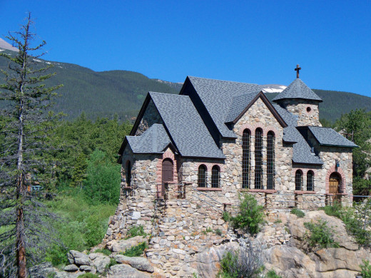 Cool church located just outside of Rocky Mountain National Park