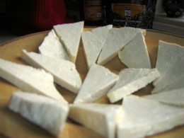 sliced tofu, Bob Ewing photo