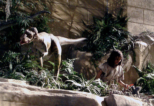 Many creationists believe dinosaurs and man co-existed peacefully before the Fall.