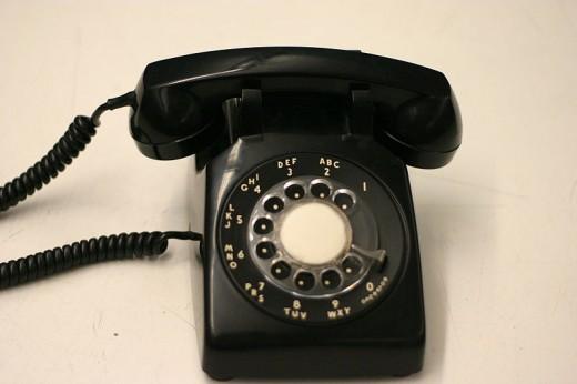 The Landline, rotary phone.