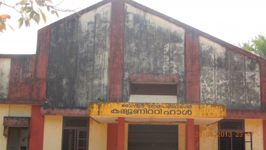 Beypore Community Hall (Behind this building is Uru Building Yard)