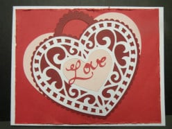 Easy to Make Cricut Card for Valentine's Day