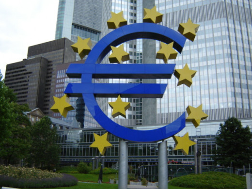 The European Central Bank in Frankfurt, Germany.