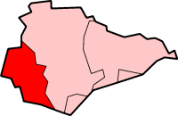 Map location of Lewes district, East Sussex