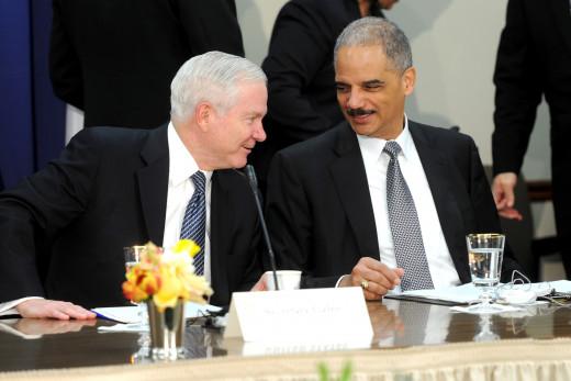 Defense Secretary Robert Gates & Attorney General Eric Holder