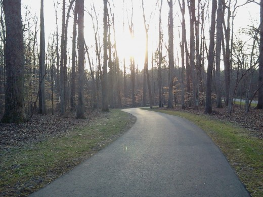 The paved trails wind around a beautiful wooded area making an afternoon walk, jog, or bike ride worth turning into a regular habit.