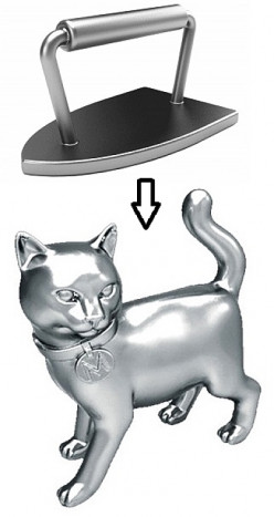 Play Monopoly Game with a New Cat Token That Will Replace the Iron