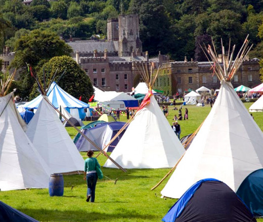Glamping's origins are in outdoors events and music festivals