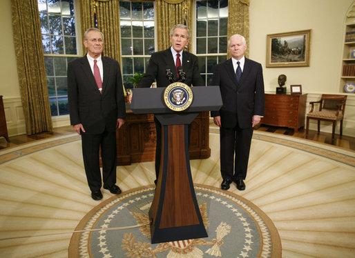 President Bush, Robert Gates, & Donald Rumsfeld