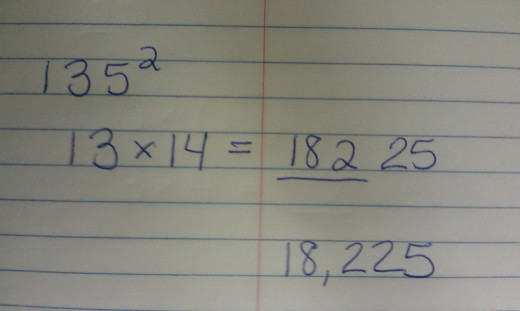 Square of 135