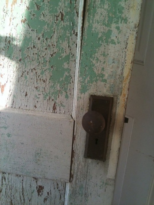 Don't overlook architectural salvage. This chippy door is fabulous and has all kinds of uses.