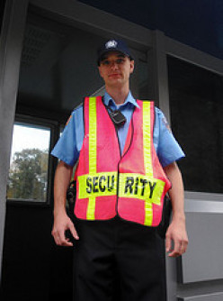 What do security guards do?