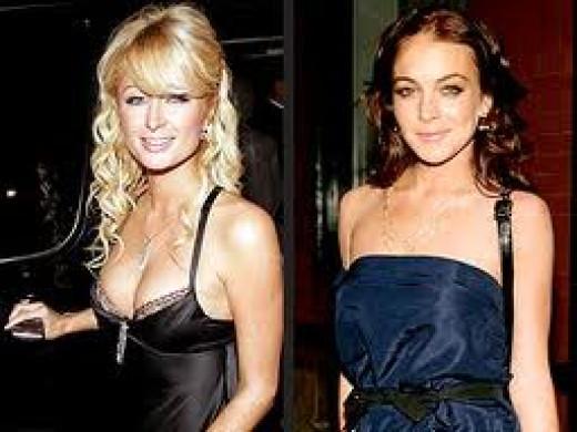 Lindsay Lohen and Paris Hilton