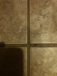Tile before cleaning