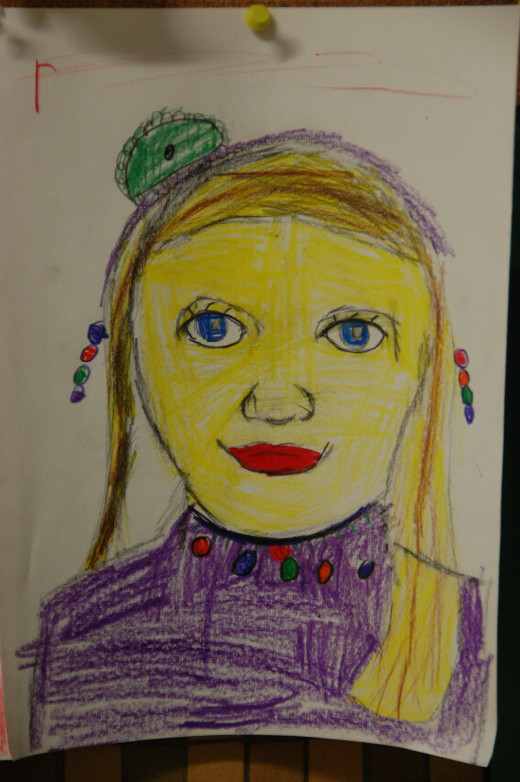 another second grade self-portrait