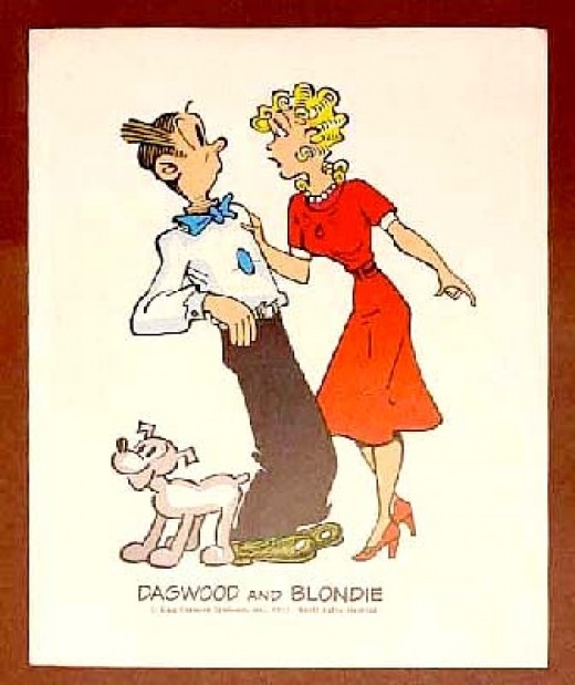 Mr dithers blondie comie strip