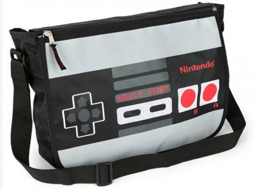 The Nintendo laptop bag is a classic design that will reflect your 'old school' roots to anyone who sees it!