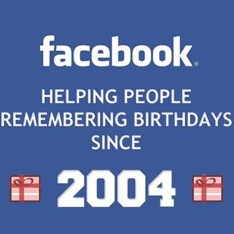 Facebook birthday meme