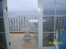 A condo I rented in Ocho Rios, Jamaica. View from Balcony. Cost averaged $78 a night ($39 per person).