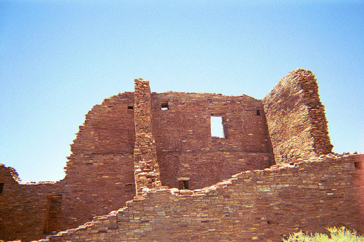 These Anasazi ruins in Chaco Canyon National Historical Park, New Mexico were photographed by Btipling on December 9, 2009.