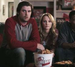 Sara Fletcher - The KFC game day bucket go boom girl