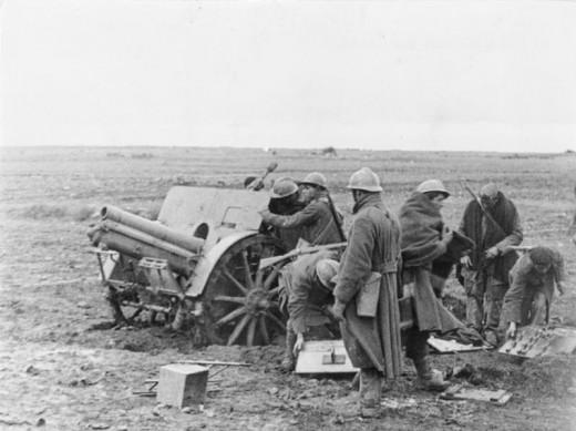 Republican troops fighting near Guadalajara.