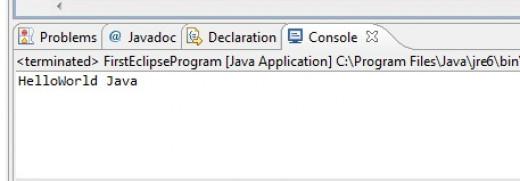 Output of java program