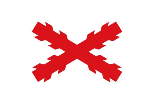This is a flag of of one of the Nationalist factions known as the Carlist Traditionalist Requetes