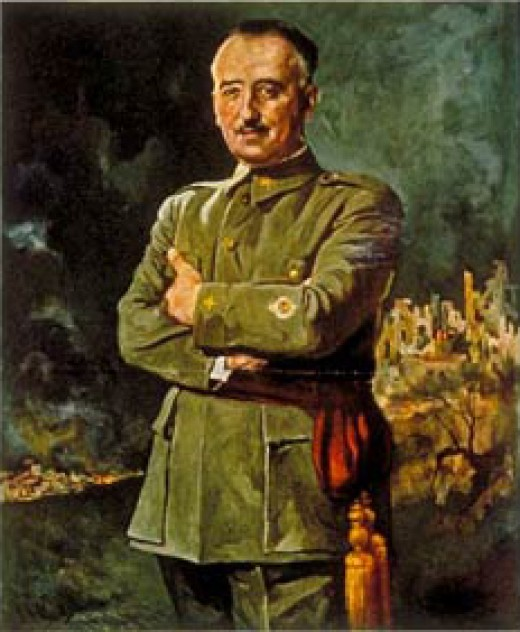 This is a portrait of Francisco Franco that was published on the front cover of Time magazine in September 1937.
