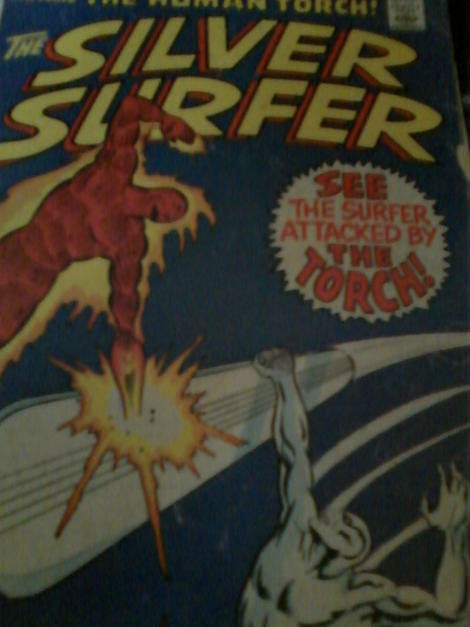 Marvel Comics' Hero, The Silver Surfer Powered By Cosmic Energy - The Power Cosmos!
