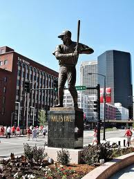 The Stan Musial Statue outside of Busch Stadium in St. Louis.