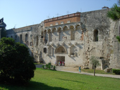 The Golden Gate of the Diocletian's Palace in Split, Croatia (Hrvatska)