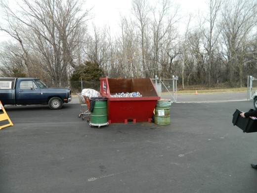 Aluminum cans and other aluminum items.