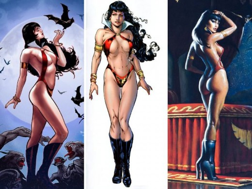 Vampirella Costume Three Angles