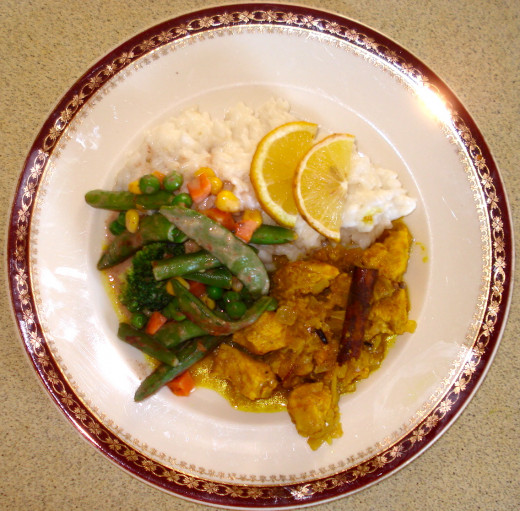 Serve with Coconut Rice and Vegetables