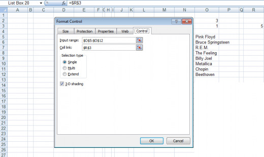 Configurable options for Format Controls List Boxes in Excel 2007 and Excel 2010.