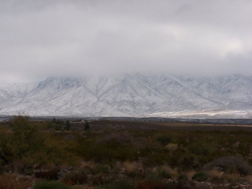 The Franklin Mountains near El Paso