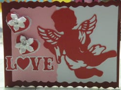Easy to create Idea-a Homemade Valentine's Day card using a Cricut Cutting Machine