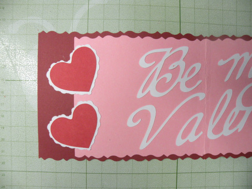 2 layered hearts adhered to the card