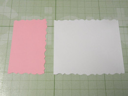 White background & Pink background scalloped edges