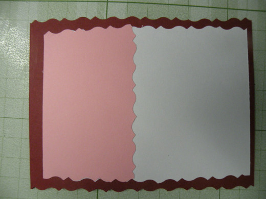 Backgrounds adhered to front of card