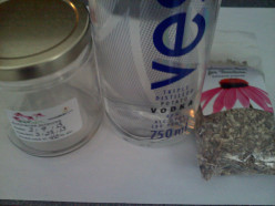 Ingredients for my echinacea root tincture