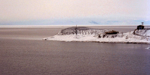 Commander Robert Scott built a hut with his team here at Hut Point on what became McMurdo Station.