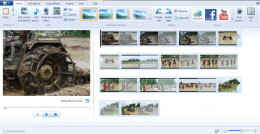 You can create video from pictures by loading pictures, adding visual effects and background score.