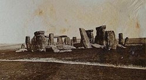 Early photo of Stonehenge