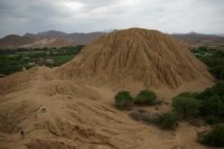 Moche pyramid at Sipan in Peru