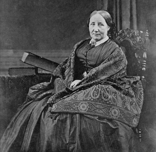 Photograph of Elizabeth Gaskell from around 1860