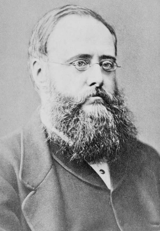 Photograph of Wilkie Collins from 1871